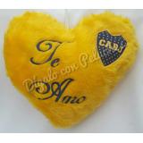 Corazón Almohadón De Peluche Personalizado Boca Juniors