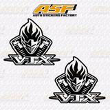Sticker - Calcomania - Vinil - Honda Vtx Logo Motor
