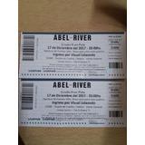 2 Entradas Abel Pintos River Lunes 18/12/17 Campo Fila 35