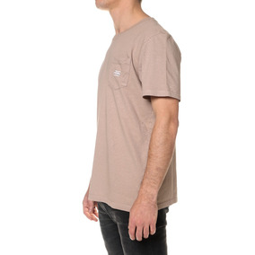 Remera M/c Billabong Die Cut Pocket Marrón Hombre