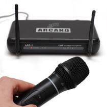 Microfone Sem Fio Arcano Uhf Am-ha1 De Mão Completo Promoção