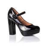 Sapato Feminino Vizzano Preto Sapato Boneca Verniz