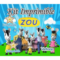 Kit Imprimible Zou La Cebra Candy Bar Cumples