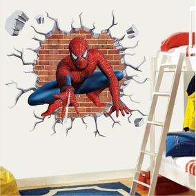 Adesivo Infantil Papel Parede Homem Aranha Herois Buraco M15