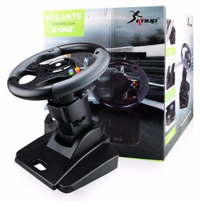 Volante Xbox One Dual Shock C Pedal Knup Kp-5816 Nota Fiscal