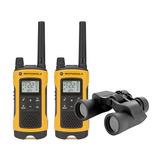 Rádio Comunicador Motorola T400br + Binóculos S/frete
