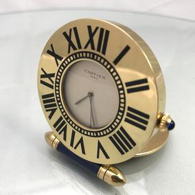 Relógio Despertador Cartier Travel Banhado À Ouro