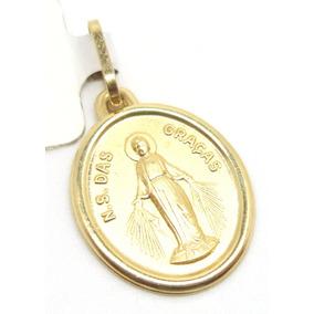 8822 Medalha Nossa Senhora Das Graças De Ouro 18k 750 - Joias e ... feee50ed21
