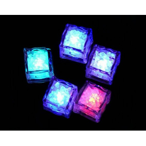 Hielo Luminoso Led Multicolor Sensor Liquido Fiestas Neon
