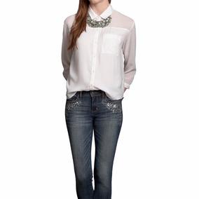 Camisa Social Abercrombie Feminina - Transparente - P E M P4