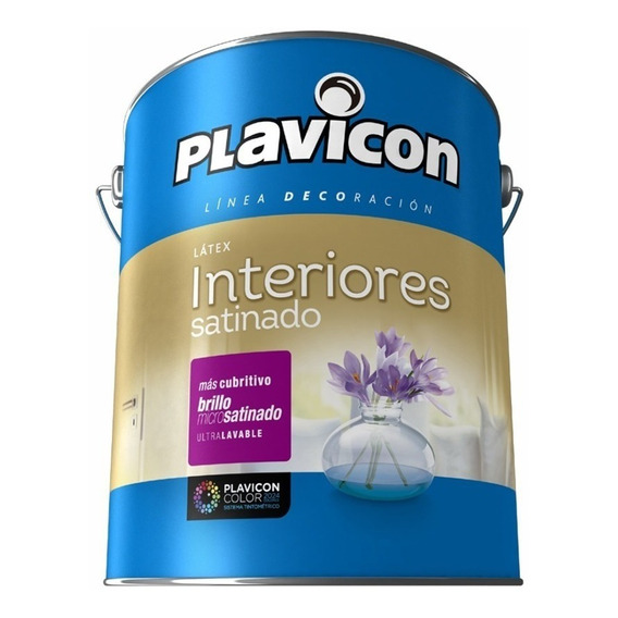 Latex Plavicon Interior Satinado 4l Bco Pintumm
