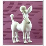 Enfeite Cachorro Poodle Branco Toy Linha Requinte Cerâmica
