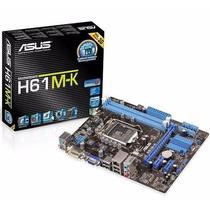 Placa Mãe 1155 Asus H61m-k S/v/r Lga1155 Intel H61m