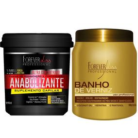 Forever Liss Banho De Verniz 1kg + Anabolizante Capilar 950g