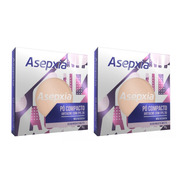 Kit 2 Asepxia Pó Compacto Antiacne Fps20 Bege Claro  - 10g