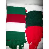 Bufandas Unisex. Navidad. Mediano Y Grande. Bordado Unicolor