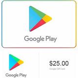 Google Play Tarjeta Gift Card $25 Usd