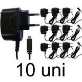 10 Carregador Micro Usb Universal V8 Celular Samsung Lg Sony