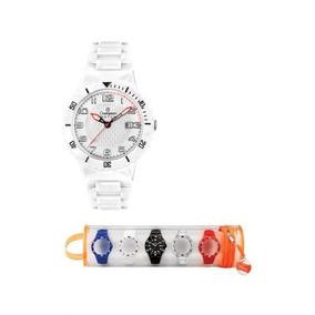 Relógio Champion Troca Pulseiras 100 Metro Branco Cp30119x