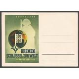 Alemania 1938 Postkarte Exposición Bremen La Llave Mundo 321