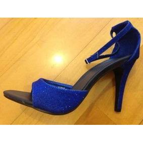 Sandalis De Gala Azul Brillante