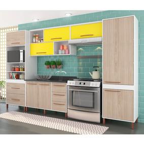 Cozinha Compacta Castanha Paneleiro, Armários E Balcão Albat