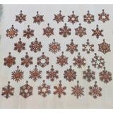 Esferas Copos De Nieve De Mdf (12 Pzas)