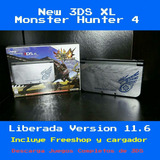 3ds Xl Con Monster Hunter 4. Incluye Freeshop A Solo 250$