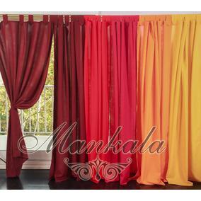 cortina de tropical mecanico mankala color rojo