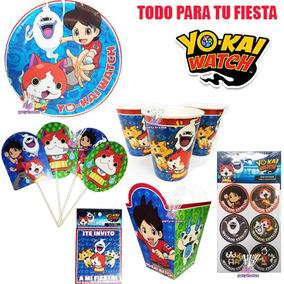 Platos O Vasos O Invitaciones O Stickers Yokai Watch Fiesta