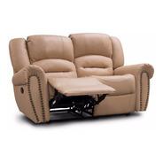 Love Seat Reclinable 100% Piel Genuina Oxford - Confortopiel