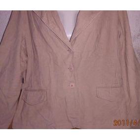 Campera Pana 48 Dama Color Beige,chaqueta Entallada C/ Nueva