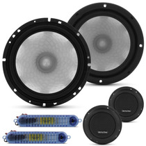 Kit 2 Vias Bravox 6 Pol 140w Cs60d Falante Tweeter Crossover