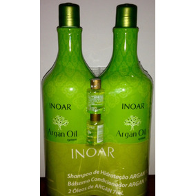 Inoar Kit Shap Cond Argan Oil 1litro + 2 Óleos Argan Oil 7ml