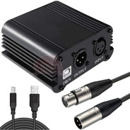 Fuente Phantom Power 48v Usb Para Mic Condenser + Cable Xlr