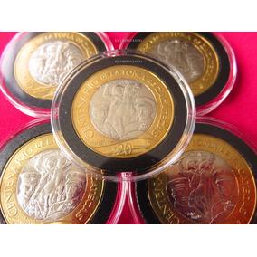 Moneda 20 Pesos Zacatecas 2014 Villa En Capsula Premium