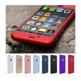 Capinha Case Iphone 5/6/7/plus Frente E Verso Coloridas 360