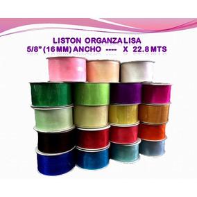 Liston Organza Lisa 5/8 (16 Mm) X 22.8 Mt Decoracion