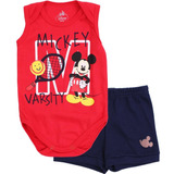 Kit Body Regata Bermuda Disney Mickey Marlan