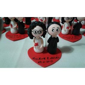 Lembrancinhas De Casamento Noivinhos Feitos De Biscuit