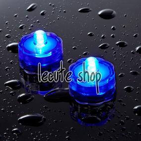 12 Led Sumergible Luz Azul Boda Centros Mesa Adorno Fiesta