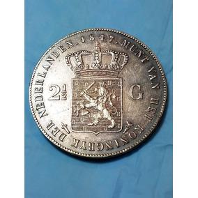Moneda Holanda 2 1/2 Gulden 1847 Plata 945 Peso 25 Gramos