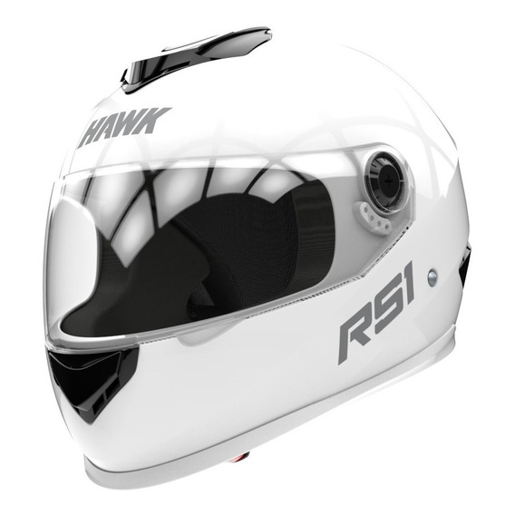 Casco Moto Integral Cerrado Hawk Rs1 2019 Blanco - Sti Motos