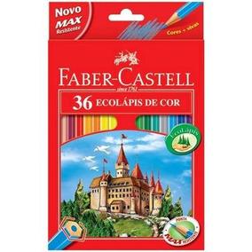 Lápis De Cor Sextavado Estojo C/36 Cores Faber-castell