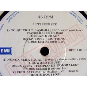 Duran Duran / Pet Shop Boys Varios 45 Rpm Vinilo
