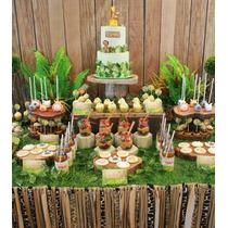 Candy Bar C/ Cookies, Cupcakes Y Golosinas - Animales Selva