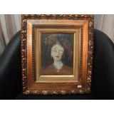 Lindo Quadro - Retrato De Mulher - Antigo