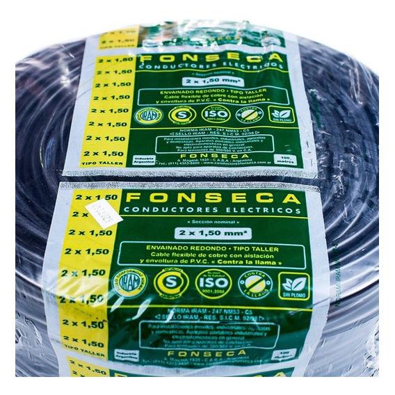 Cable Tipo Taller 2x1,5 Mm Rollo X 25m Fonseca * E631  *