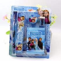 Material Escolar Kit Frozen Lápis,borracha,apontador, Régua