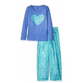 Pijama 2 Piezas Calvin Klein Niña Azul Pantalón Manga Larga